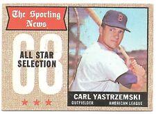 1968 TOPPS CARL YASTRZEMSKI #369 POOR HOF ALL - STAR SPORTING NEWS