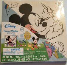 Disney Mickey Mouse Painting Eggs Canvas Painting Activity Set 4 yrs+ New 2018