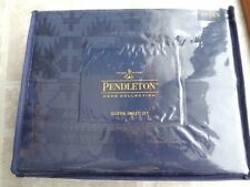 PENDLETON Spider Rock Jacquard Queen Sheet Set (Navy) - Free Shipping