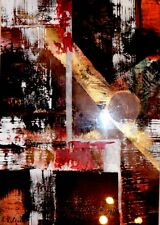 REGENBOGEN-ART *Blick durchs Braun 1* Acryl Orig. Kunst Kilgert ca. 40x55