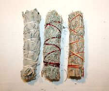 California White Sage Desert Sacred Feather Smudge Herbs 3 Pack Sage for Burning