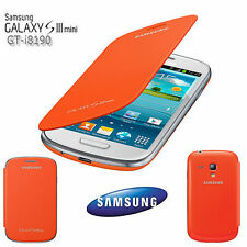 ORIGINAL SAMSUNG FLIP COVER  ETUI TASCHE i8190 Galaxy S3 SIII Mini Orange