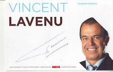 CYCLISME carte  manager VINCENT LAVENU équipe AG2R LA MONDIALE 2009 signée