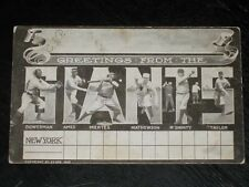 1905 New York Giants Championship Post card with Christy Mathewson