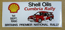 1990 Shell Oils Cumbria Rally / Motorsport Sticker Decal