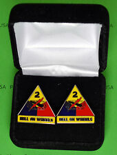 2nd Armored Division Army Cuff Links in Presentation Gift Box - cufflinks