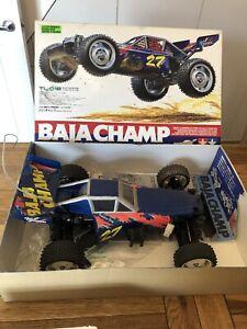 Tamiya Baja Champ With Radio Control, Slow Charger And Batteries.