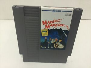 Maniac Mansion Nintendo NES Clean Tested Working