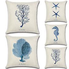 Cushion Cover Square Sea Animal Pillow Case Sofa Car Bed Waist Throw Home Decor