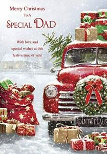 To A Special  Dad Christmas card Lovely Verse GR853072