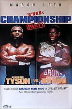 Original Vintage Iron Mike Tyson vs. Frank Bruno II Boxing Fight Poster