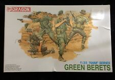 "Dragon Green Berets 1/35"" NAM Series Unassembled Model Kit #3309 4 Figures NEW"