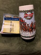 2009 Budweiser Stein Mug Clydesdales A Holiday Tradition Cs699 Christmas Beer