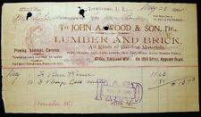 1902 LAWRENCE LONG ISLAND NY JOHN A WOOD LUMBER BUILDING MILL ST. HAYNES BURNS