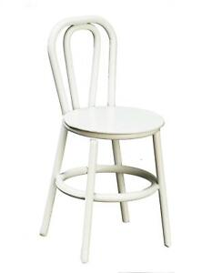 Dolls House White Metal Bistro Chair 1:16 Scale Miniature Furniture