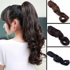 Remeehi Thick Long Wavy Claw /Jaw Clip 100% Human Hair Ponytail Hair Extension