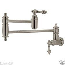 Kingston Brass Restoration Kitchen Faucet Pot Filler In Satin Nickel KS3108AL