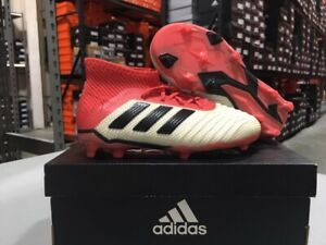 Adidas Junior Predator 18.1 FG Soccer Cleats (White/Black/Red) Size: 10k-2y NEW!