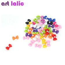 45pcs Mix Color Bow Tie Acrylic 3D Rhinestone Nail Art UV Gel Tips Free Ship