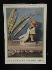 "Goebel Hummel Kalender Calendar 1965, Titelbild ""'Goose Girl"", USA-Version"