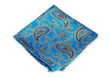 Lord R Colton Masterworks Pocket Square $75 Retail New Sao Paolo Azul Silk