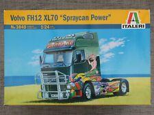 ITALERI 3840 - VOLVO FH12 XL70 SPRAYCAN POWER TRUCK - RARE 1/24 KIT - NO DECALS