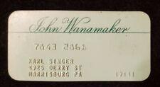 John Wanamaker charge card ♡Free Shipping♡cc598♡ Princess Size