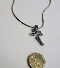 fairy pendant silver plate blue