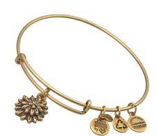 Alex and Ani Water Lily Russian Gold Bangle Bracelet A12Eb39Rg