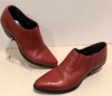 Durango Low Cut Ankle Boots Western Red Leather Womens Size 6