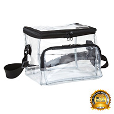 Clear Lunch Bag Medium Suitable for Workplaces / Stadiums New Free Shipping. .