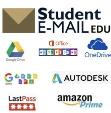 New Edu Email Student OUTLOOK /6 Month Amazon Prime/1TB ONE DRIVE /Office 365