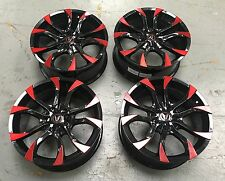 "4X18"" WOLFRACE ASSASSIN GLOSS BLCK ALLOY WHEELS HONDA CIVIC TYPE R ACCORD 5X114"