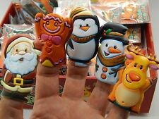5 Mini Christmas Finger Puppets Party Bag Stocking Filler Loot Bag Parties Xmas