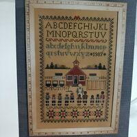 Told in A Garden Schoolhouse Sampler Counted Cross Stitch Pattern Chart NOS