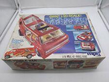 Vintage 1977 MPC 1/20 Scale Super Custom Ford Street VISIBLE VAN Model Kit SET