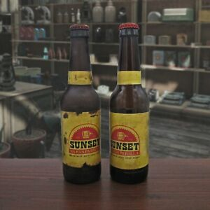 Sunset Sarsaparilla Root Beer Replica Fan Made Gaming Prop Empty Glass Bottle