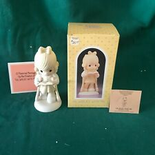 """New ListingPrecious Moments 1986 """"107999"""" """"He Walks With Me"""" New In Box -Mint"""