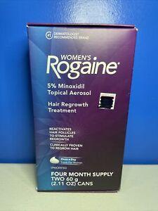 Rogaine Women's 5% Minoxidil Foam 4-month Supply New Exp 11/22++ NEW BOX