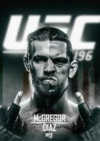 CONOR MCGREGOR V NATE DIAZ UFC 196 MMA Wall Art Print Photo Poster A3 A4