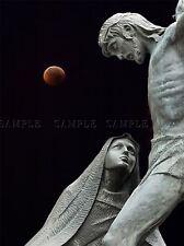 STATUES JESUS OUR LADY LUNAR ECLIPSE PHOTO ART PRINT POSTER PICTURE BMP1741A