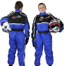 Trajes de cuero una pieza azules niños para motoristas