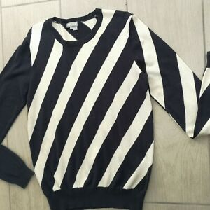 "Lyle & Scott Cashmere Cotton Blend Striped Jumper L - 38"" Chest Sweater Unisex"