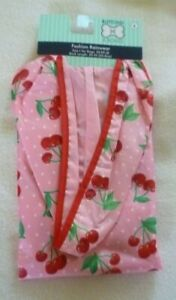 New Dog  Fashion Hooded Raincoat size Small Pink Cherries 20-50 LBS