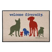 "High Cotton Welcome Diversity Doormat, Dog Breeds Olefin Welcome Mat - 18"" x 27"""