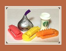 Authentic Littlest Pet Shop LOT Pink Yellow Orange HAIR ROLLER CLIP Accessories