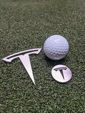 Tesla golf divot repair tool and ball marker Stainless steel