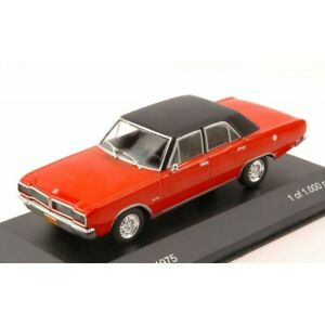 ✨WHITEBOX DODGE CHARGER R/T 1975 RED W/BLACK ROOF 1:43