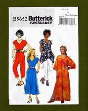 Caftan Top Dress Jumpsuit Sewing Pattern~Fast & Easy (XS, S, M) Butterick 5652