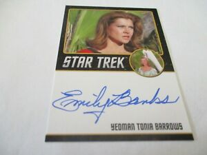 Star Trek Rittenhouse Autograph Emily Banks Auto as Barrows
